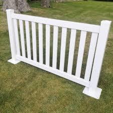 White Pvc Portable Flat Top Picket Fencing Watt Plastics