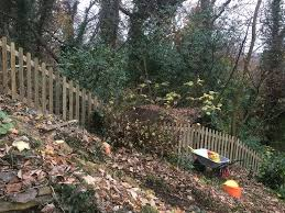 Traditional Fence On A Slope Jacksons Fencing