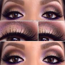 purple eye makeup for hazel eyes