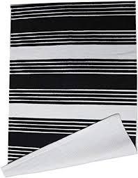 cotton stripe printed area rug