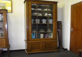 tall narrow cabinet with glass doors