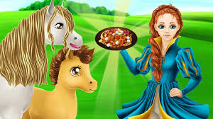 Vệ Sinh Chuồng Ngựa Và Cho Ngựa Ăn - Game Vui Cho Bé - YouTube