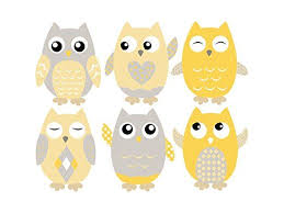Amazon Com Owl Fabric Wall Decals Set Of 6 Owls Wall Stickers 6 Quot Tall Orange Grey White Available In 4 Di Fabric Wall Decals Fabric Wall Owl Fabric