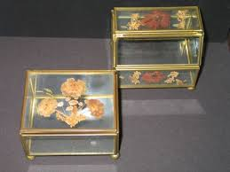 pressed flowers jewelry boxes