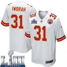 Prince Charles Iworah Youth Kansas City Chiefs Nike Super Bowl LIII Jersey  - Game White