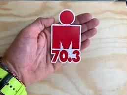 Ironman 70 3 Red M Dot Triathlon Sticker 4 Swim Bike Run Tri Car Decal Ebay