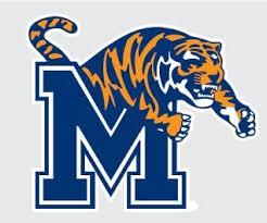 Amazon Com University Of Memphis Tigers M With Tiger Logo 4 Vinyl Decal Um Tigers Car Truck Window Sticker Automotive