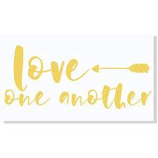 Love One Another Arrow Wall Sticker Vinyl Letters Decals Home Decor 23x10 Inch Buttercream Walmart Com Walmart Com