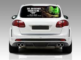 Yoda Quote Car Rear Window Graphic Decal Sticker Truck Suv Van Star Wars 085 35 99 Picclick