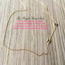 meghan markle s h m initial necklace