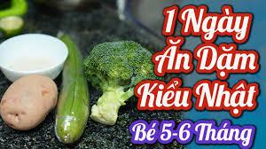 Nấu 1 Ngày Đồ Ăn Dặm cho bé 5-6 tháng Theo Phương Pháp Ăn Dặm Kiểu ...