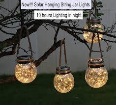 solar hanging lights outdoor warm