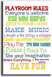 Amazon Com Have Fun The Kids Room Playroom Rules Canvas Print Wall Art12x16 Inch Posters Prints