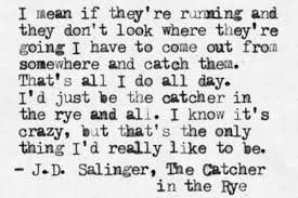 from the catcher in the rye by jd salinger one of my favourite