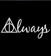 Always Harry Potter Deathly Hallows Decal Vinyl Sticker Cars Trucks Vans Walls Laptop White 7 5 X 3 25 In Cci558