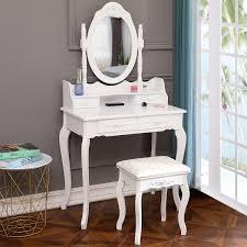 ktaxon elegance white dressing table