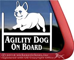 French Bulldog Agility Dog Decals Stickers Nickerstickers