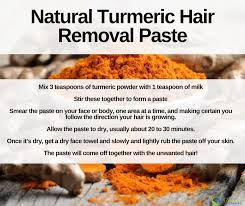 turmeric for hair removal how to get