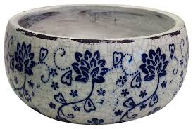 blue and white ceramic fl pattern