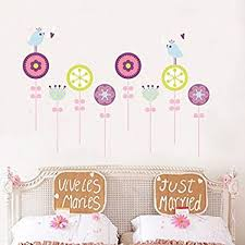 Flower Wall Stickers For Kids Floral Garden Wall Decals For Girls Room Buy Online At Best Price In Uae Amazon Ae