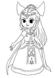 Legende Van Zelda Vier Zwaarden Kleurplaat Gratis Kleurplaten