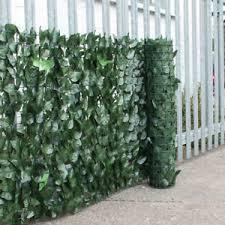 Artificial Hedge Ivy Leaf Garden Fence Privacy Screening Balcony Green Wall Roll Ebay