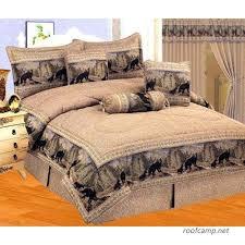 7 pieces wild black bear comforter set