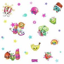 Shopkins Wall Stickers 39 Decals Scrapbooking Grocery Cartoon Characters Decor