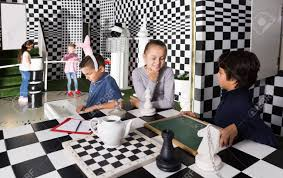 Captured Children Play In Escape Room In Chess Style Stock Photo Picture And Royalty Free Image Image 97673301