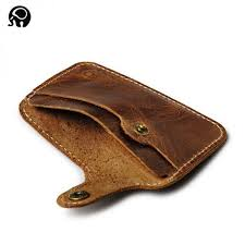 retro thin leather wallet card holder
