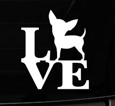 I Love My Chihuahua Approved Car Decal Adopt Etsy