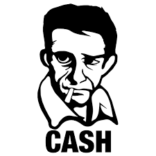 Johnny Cash Sticker By Cahutec Zeech Productions Santa Cruz Ca