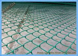 Galvanized Color Coated Chain Link Fencing Fabric 3 Feet Quick To Install