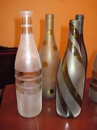 frosted bottles diy wine wine bottle