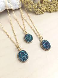 druzy necklace real druzy pendant