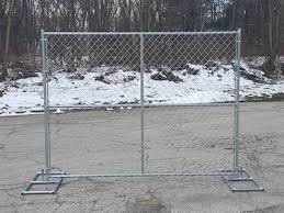 Temporary Chain Link Fencing Applications And Specification