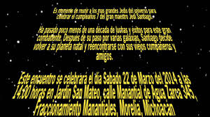 Invitacion De Santiago Star Wars Youtube
