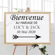 French Vinyl Stickers For Wedding Signs Wedding Welcome Sign Vinyl Decal Special Day Wedding Decoration Name Decals Wall Stickers Aliexpress
