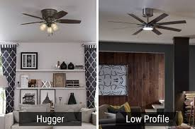 best low profile ceiling fans huggers