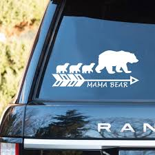 Mama Bear Decor Decal Car Sticker Bestofnative Com
