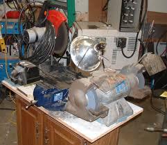 portable homemade grinding table center
