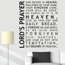 Lord S Prayer Wall Decal Home Decoration Family Bible Scripture Prayer Wall Sticker Bedroom Church Decor Living Room Mural Eb077 Wall Stickers Aliexpress