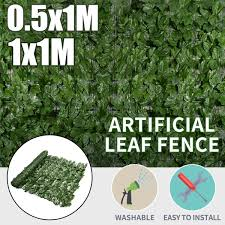 1 1m 1 0 5m Greening Artificial Hedge Leaves Faux Ivy Leaf Privacy Fence Screen Garden Wall Decor Artificial Grass Wish