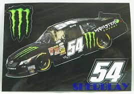Kyle Busch Monster Energy 54 Nascar Decal Sticker 3 Stickers On This Ebay
