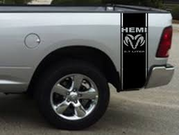 Product 2 Hemi 5 7 Liter Ram Stripe Dodge Ram Truck Vinyl Decal Sticker1