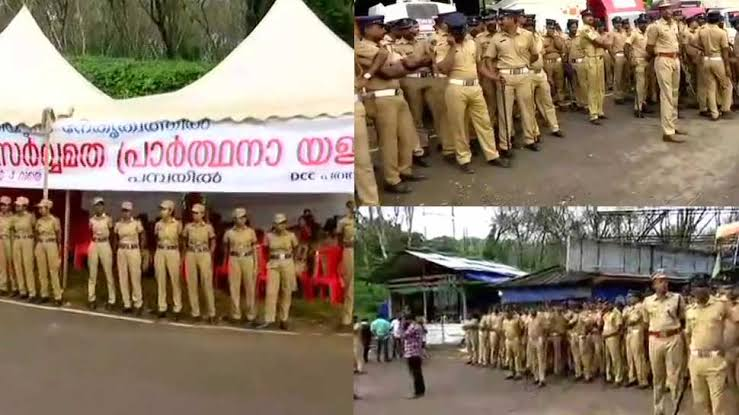 Image result for sabarimala security""