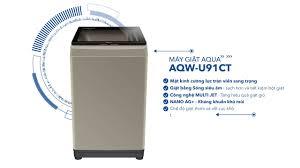 Máy giặt AQUA sóng siêu âm AQW-U91CT – Công nghệ giặt sóng siêu âm ...