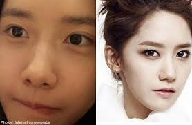 kpop idols with and without makeup
