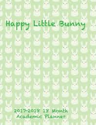happy little bunny month academic planner