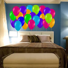 Shop Full Color Colorful Balloons Party Children Full Color Wall Decal Sticker Sticker Decal Size 48x65 Frst On Sale Overstock 15073708